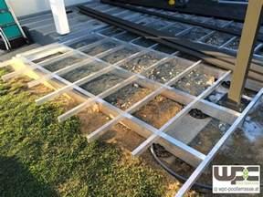 wpc terrasse unterkonstruktion bilder wpc aluminium alu unterkonstruktion f 252 r