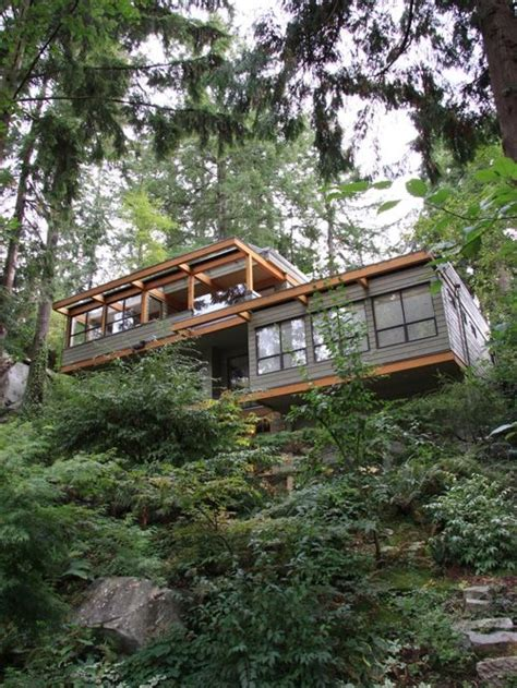 houses built on slopes steep slope house houzz