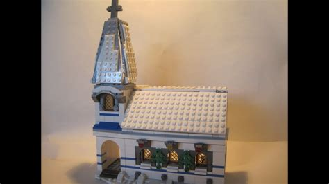 lego custom winter village christmas church moc youtube