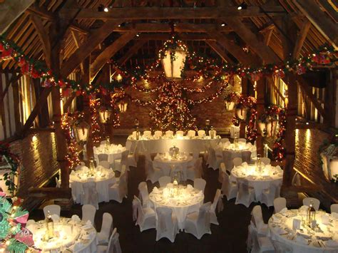 the tithe barn decorated for wedding venue in kent wedding stuff