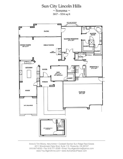 sun city floor plans sun city lincoln hills floor plans