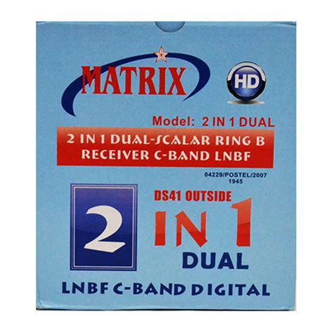 Harga Lnb 2 In 1 Matrix lnb matrix parabola 2 in 1 c band v h 2 satelit 2