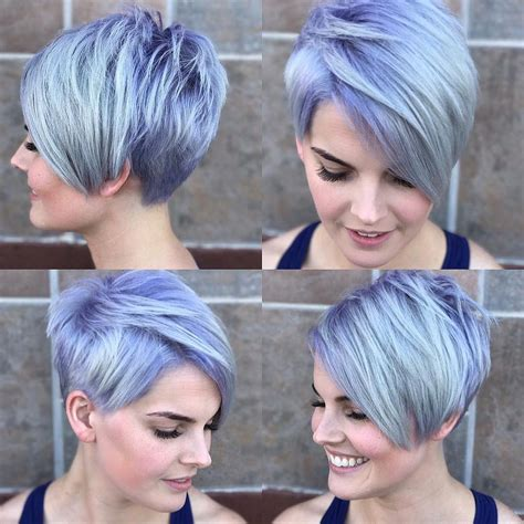 a symmetrical side swept bang pixie all sizes silver asymmetrical pixie with side swept