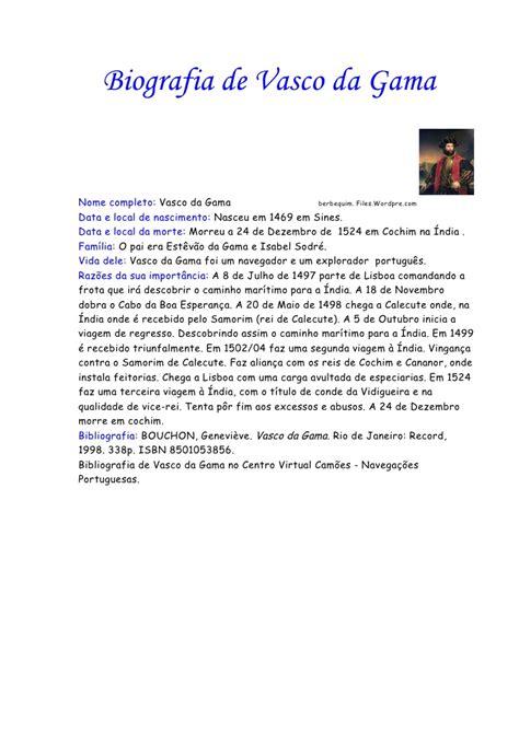 biografia vasco vasco da gama