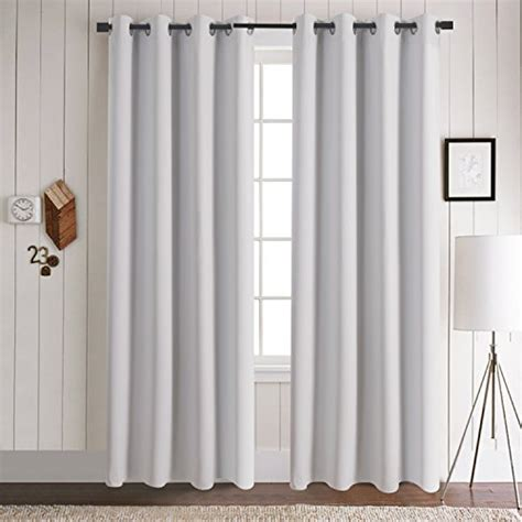 63 White Curtains 63 Inch Curtains Sun Zero Grant Solid Room Darkening Poletop Window Treatment Collection 99