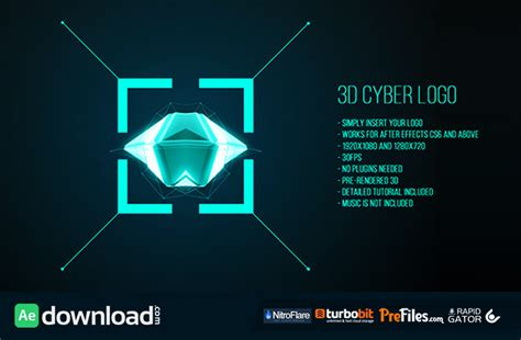 3d Cyber Logo Videohive Free Download Free After 3d After Effects Templates
