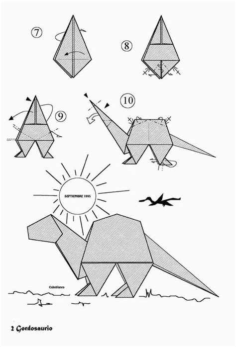 How To Make A Origami Dinosaur - free coloring pages origami dinosaurs a list of