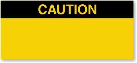 Caution Labels Caution Label Template
