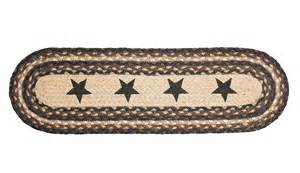 Country Stair Treads by Braided Stair Treads Black Stars Rustic Country