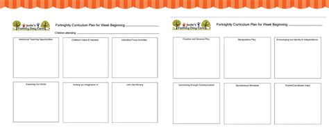 activity programme template program template for eylf outcomes educators