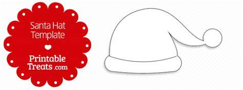 printable santa hat template printable treatscom