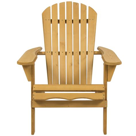 Wooden Garden Chairs Ebay by Outdoor Adirondack Wood Chair Foldable Patio Lawn Deck