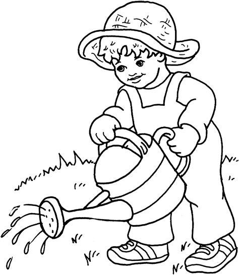 preschool coloring pages garden gardener coloring pages preschool gardener best free