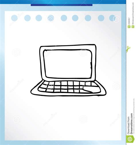 doodle pc computer technology doodle royalty free stock