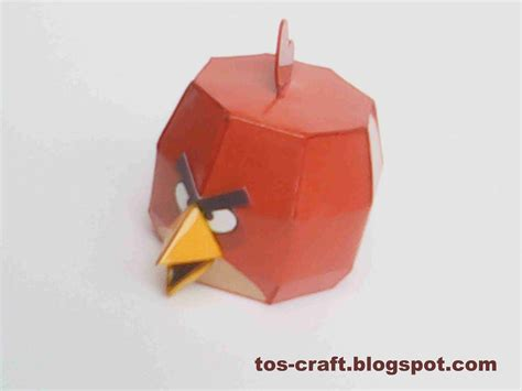 Paper Craft Birds - tos craft angry birds papercraft