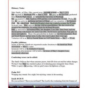 fill in obituary template obituary template for word free
