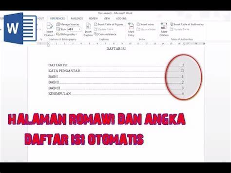 cara membuat daftar isi angka romawi cara membuat daftar isi romawi dan angka free mp3 download