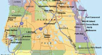 central map of towns central florida map counties