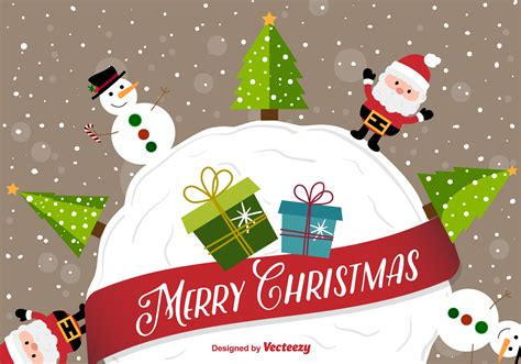 wallpaper christmas vector happy christmas cartoon background download free vector