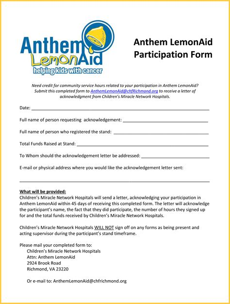 Acknowledgement Letter Request Frequently Asked Questions Children S Miracle Network