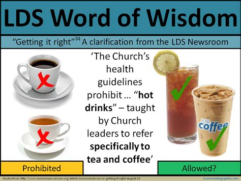 Lds Word Of Wisdom Detox Tea by Mormon Infographics February 2013