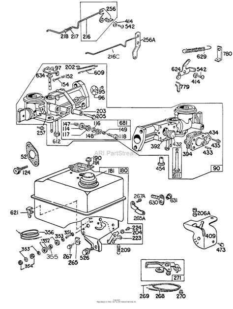 briggs and stratton carburetor parts diagram briggs and stratton 130292 1061 99 parts diagram for