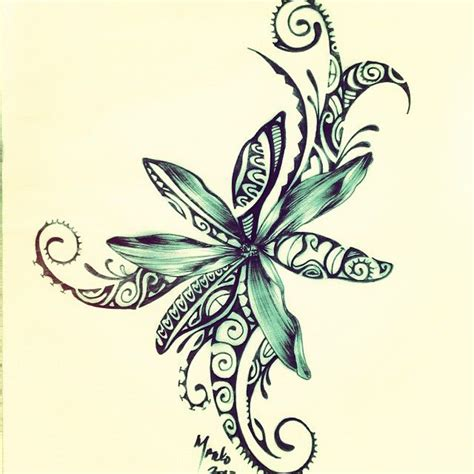 small polynesian tattoo designs polynesian design of a tiare flower pinte