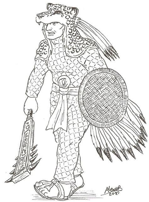 Aztec Warrior By Shabazik On Deviantart Aztec Warrior Sketches