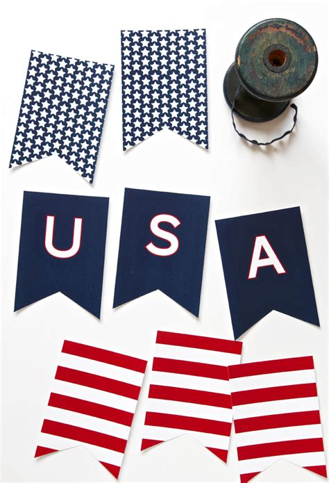 printable fourth of july banner three free printable banners paging supermom
