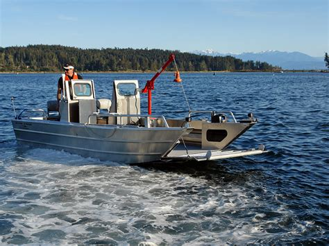 boat with landing gear 19 prospector jet landing craft aluminum boat by