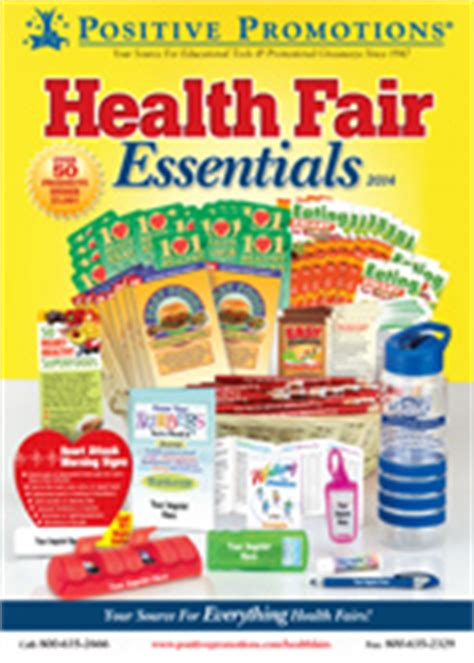 Health Fair Giveaways - health fair incentives tradeshow giveaways seminar incentives positive pro