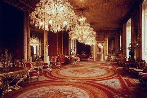 Drottningholm Palace Interior by Unbekannt The Drawing Room Of Drottningholm Palace Copy Chandelier