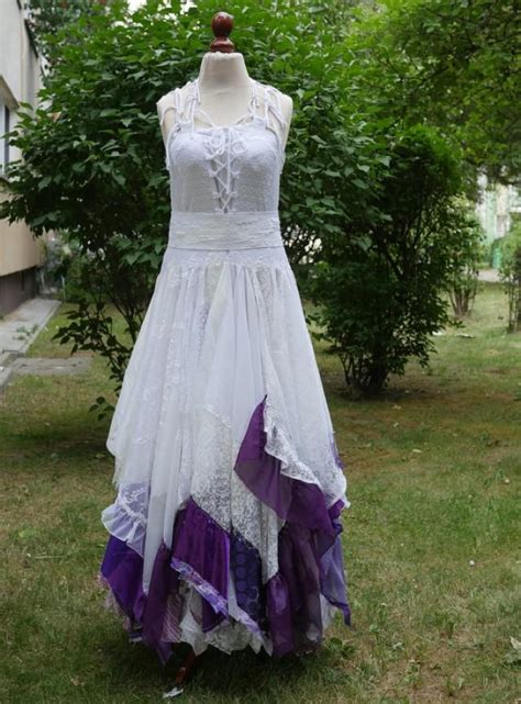 upcycled wedding dress fairy tattered romantic dress upcycled woman s clothing shabby chic funky