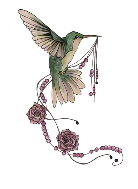 hummingbird rose tattoo collection of 25 hummingbird with flower design
