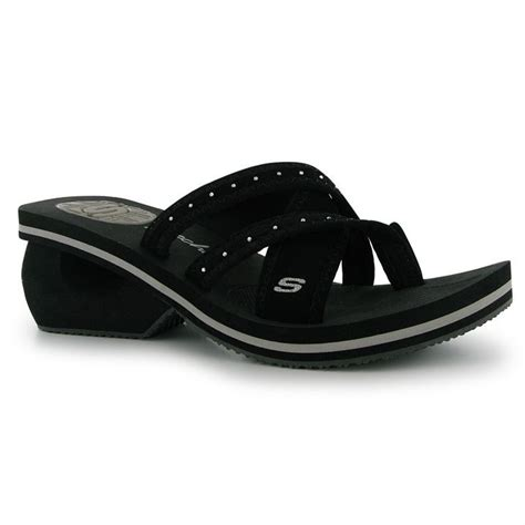 Wedges Black 7cm skechers womens cyclers wedge sandals open shoes