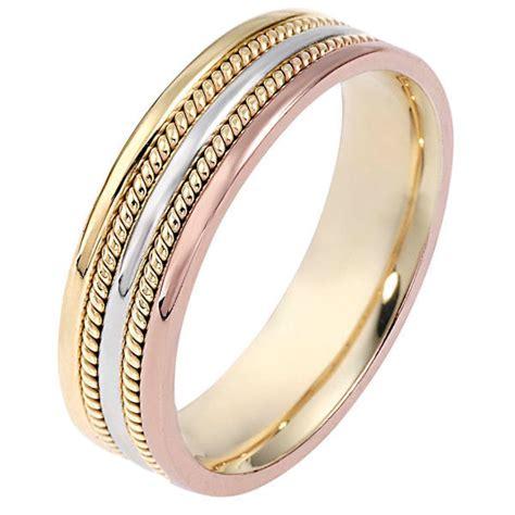 110511ne tri color wedding band