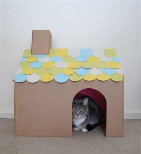 Diy Cardboard Cat House 171 Fancy Seeing You Here