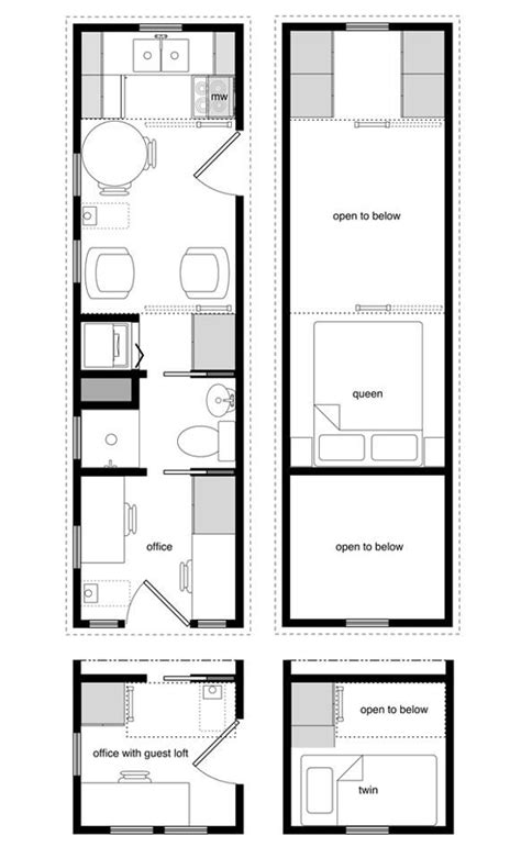 8x24 floor plan tiny house floor plans