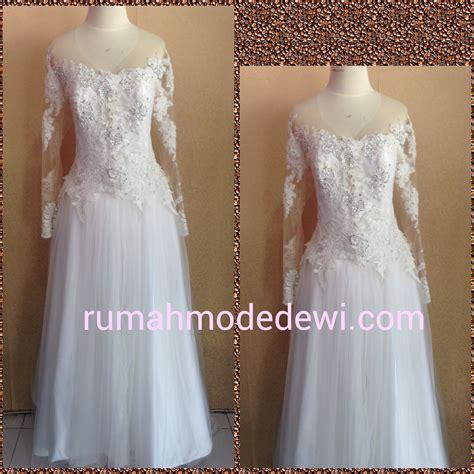 Dress Sabrina Bunga kebaya akad putih sabrina payet