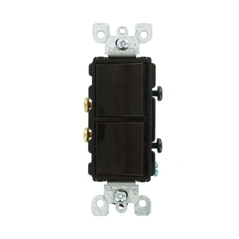 The Switch Brown leviton decora 15 single pole ac switch brown r60 05601 2ds the home depot