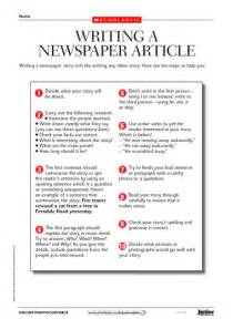 Writing A Newspaper Report Ks2 by Writing A Newspaper Article Tips Primary Ks2 Teaching Resource Scholastic