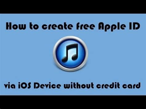 how can make apple id without credit card how to create free apple id via ios device ios 7