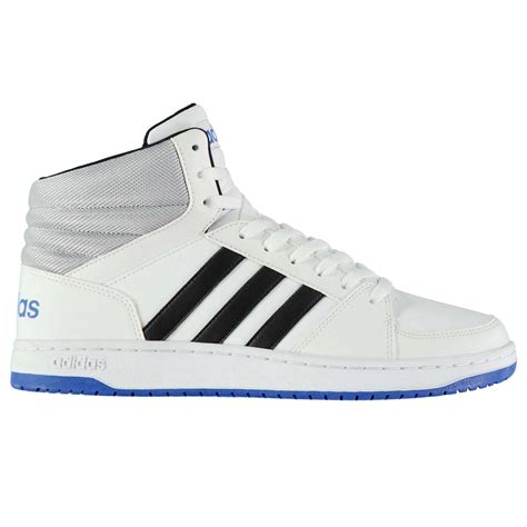 Original Adidas Hoops Mid Top adidas mens hoops mid top leather trainers sneakers shoes