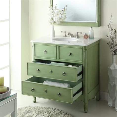 green bathroom vanity cabinet 34 cottage look daleville bathroom vanity w matching