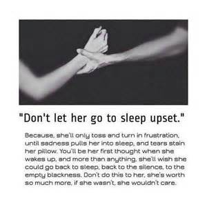 Don t let her go to sleep upset pictures photos and images for