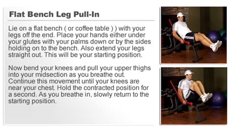 flat bench leg pull in crunch flat bench leg pull in crunch home ab workout builder