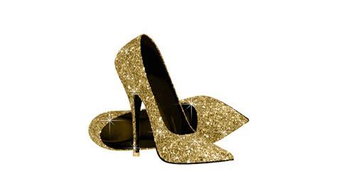 High Heels Gliter Rra Gold gold glitter high heel shoes cutout zazzle