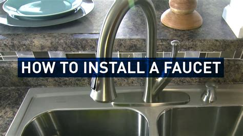 how do you install a kitchen faucet how to replace a kitchen faucet youtube