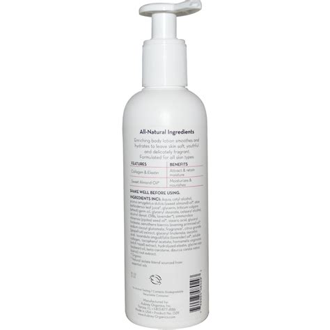 Lotion Collagen organics enriching moisturizing lotion collagen almond 8 fl oz 237 ml iherb