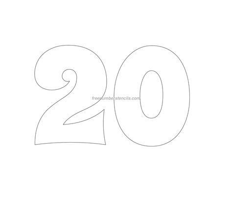 number stencil templates free groovy 23 number stencil freenumberstencils